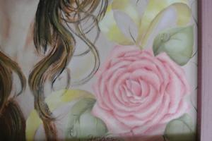 肖像画の花