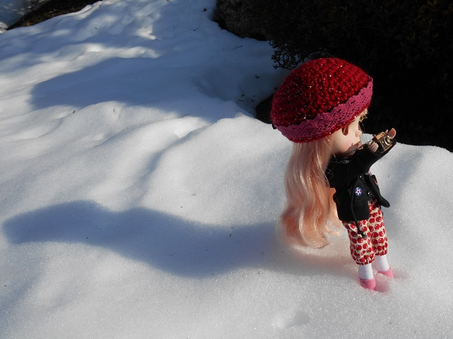 2 Yume taking pic in snow