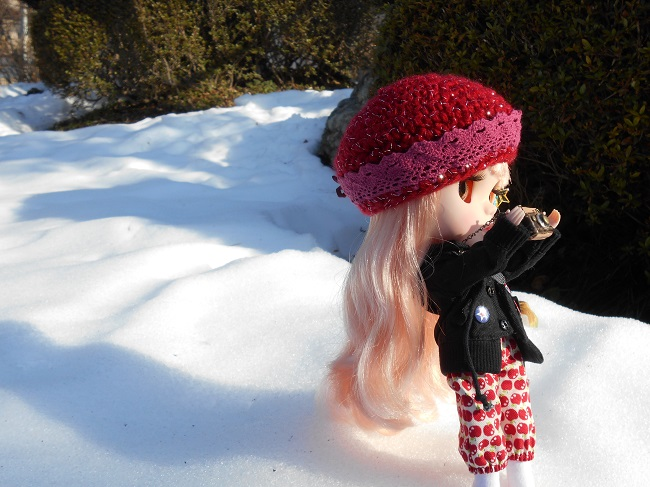 3 Yume taking pic in snow