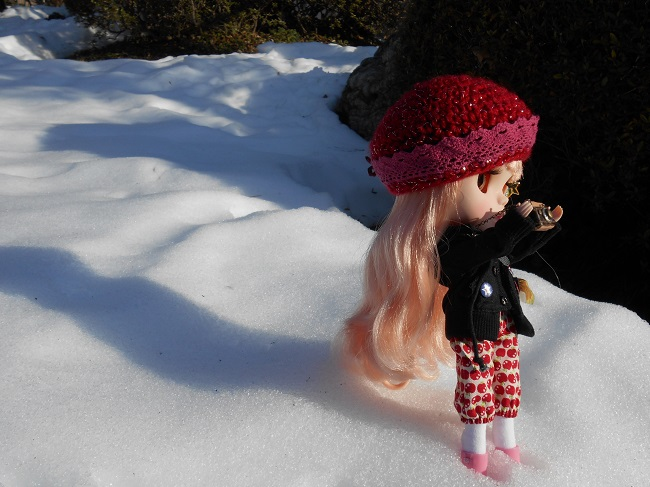 4 Yume taking pic in snow