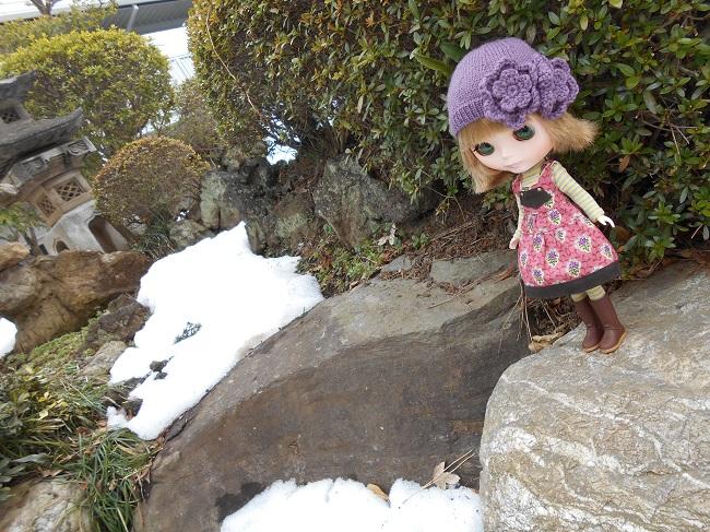 14 雪の残る庭