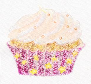 カップケーキ赤