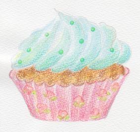 カップケーキ緑