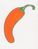 オレンジ唐辛子