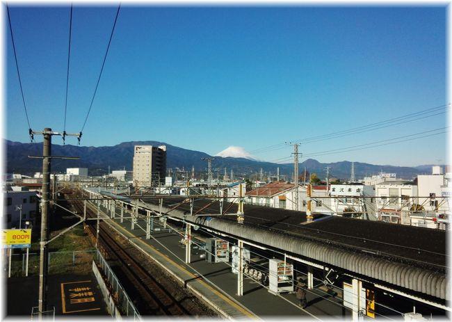 駅から見える富士山1