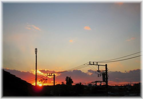 12月の夕陽