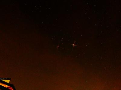 PA315944木星とふたご座(カストル上、ポルックス下)