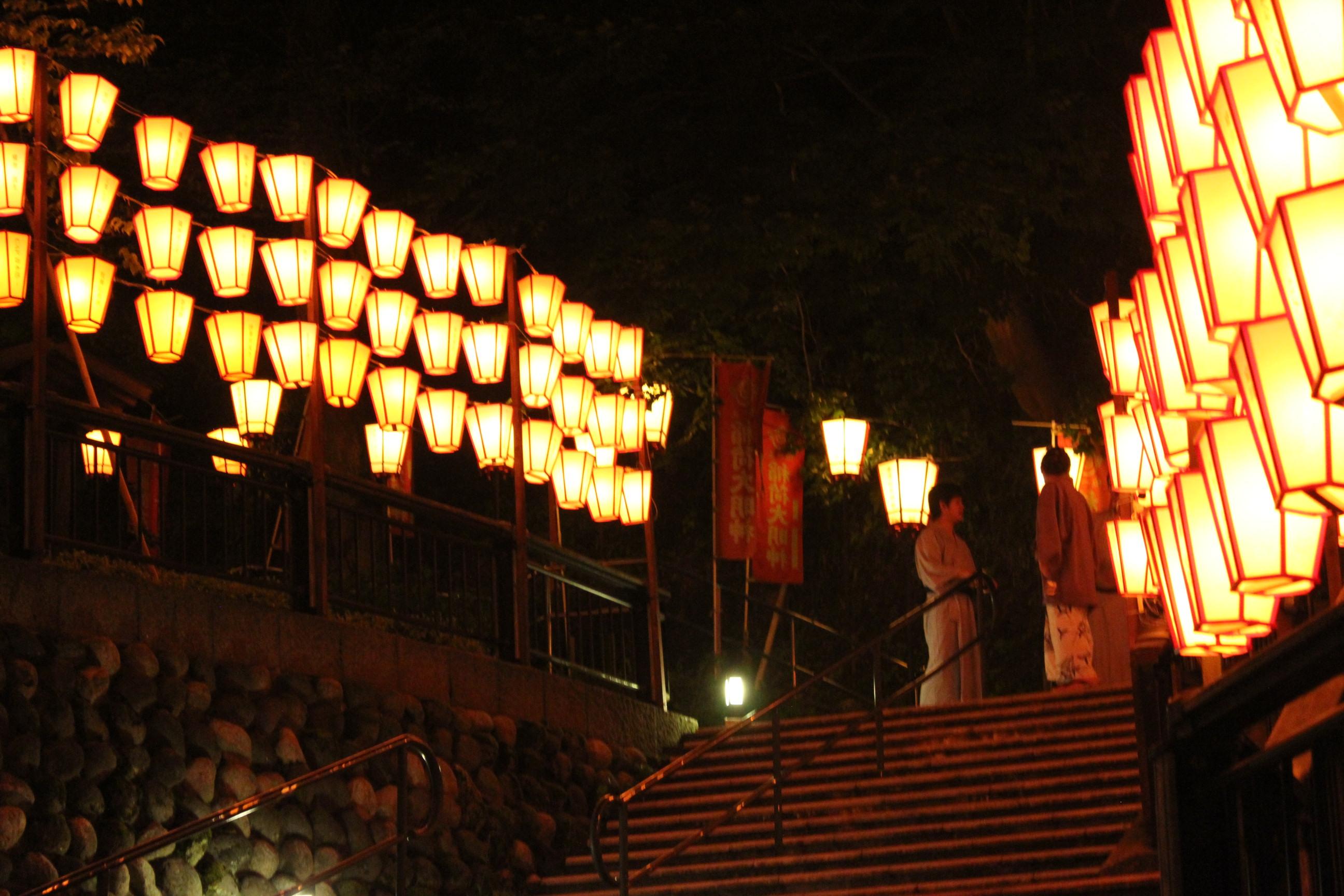 ぼんぼり祭り 点灯式 1