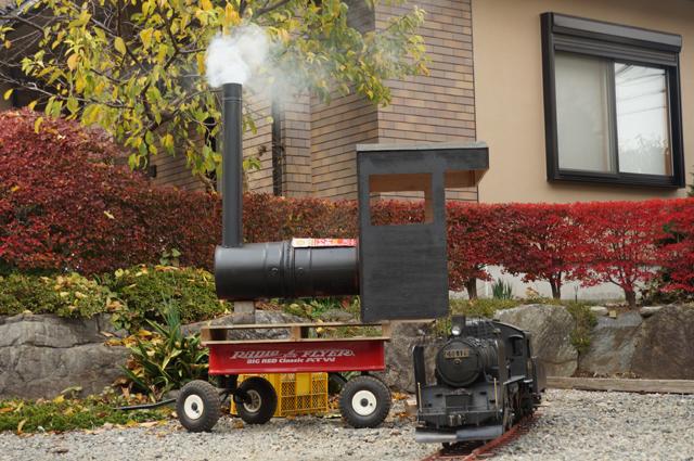 C56 129と機関車焼芋・汽車焼芋機