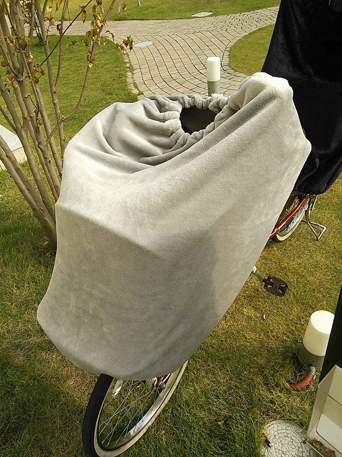 自転車の 自転車 前乗せ 防寒 手作り : ... 子供乗せ自転車の防寒アイデア