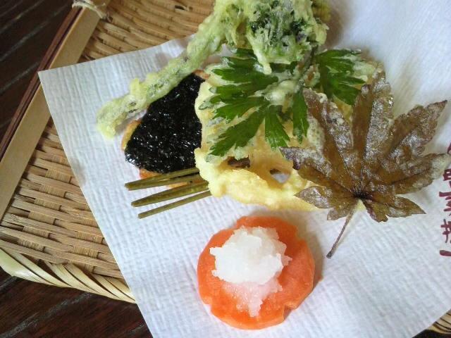 山菜料理 天ぷら盛り合わせ