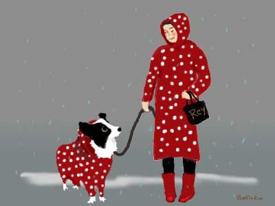 雨のお散歩♪