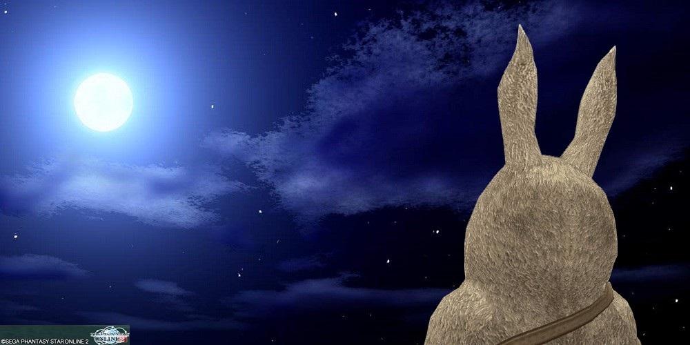月を見つめるrrp