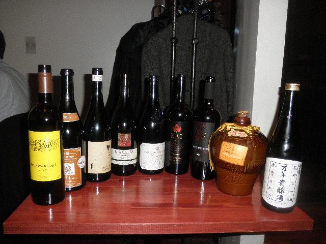 この日出されたワインとお酒たち