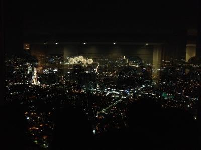 ソウルタワーから見た夜景と花火