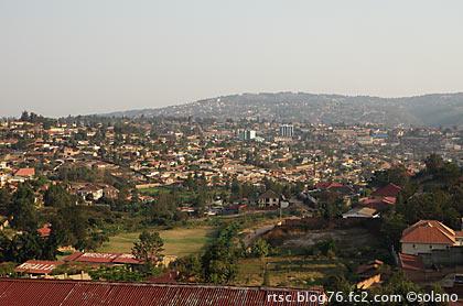 ルワンダの首都、キガリの風景。
