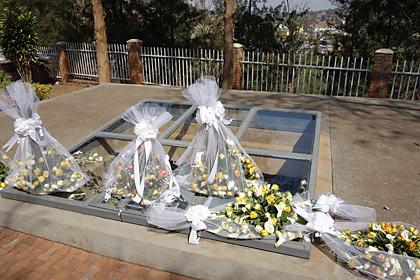 キガリ、ジェノサイドメモリアルの墓地