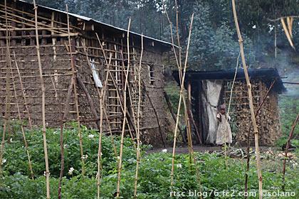ルワンダ、農家と子供