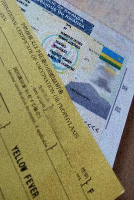 黄熱病予防接種国際証明書とルワンダのビザ