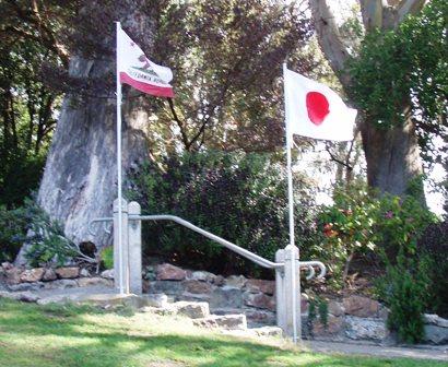 日の丸とサンフランシスコCAの旗