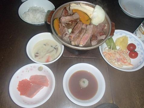 赤岳鉱泉の夕飯