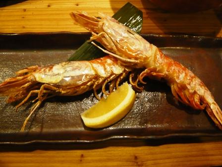 魚仁:大エビ塩焼き