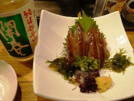 魚仁:生ホタルイカ・日本酒