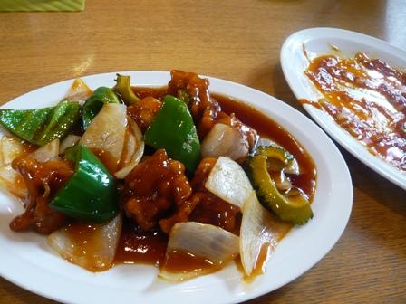 高さんの店:酢豚、海老チリ
