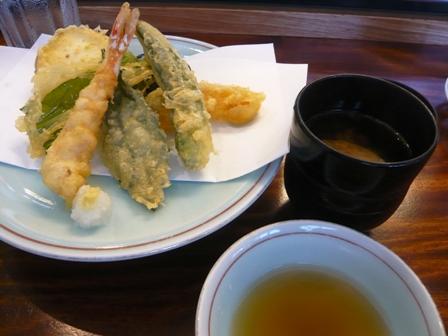 三寿司:天ぷら・赤だし