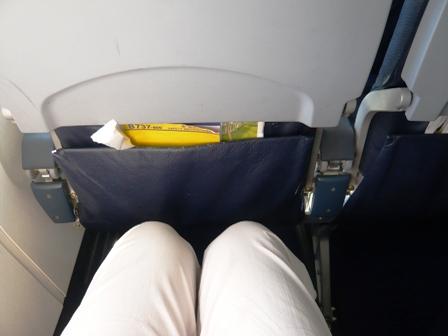 スカイマークエアライン機内座席膝元
