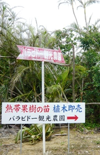 バラビドー観光農園:道標