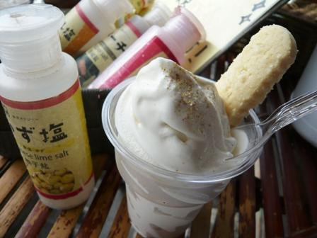 塩屋:雪塩ソフトクリーム2