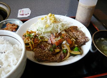 河伯菜館:焼き肉定食