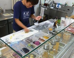 Hau tree gelato:アイス作り1