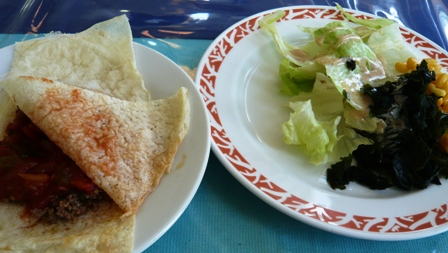 Palms:サラダ、タコス