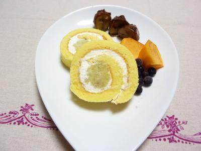 サツマイモロールケーキ2