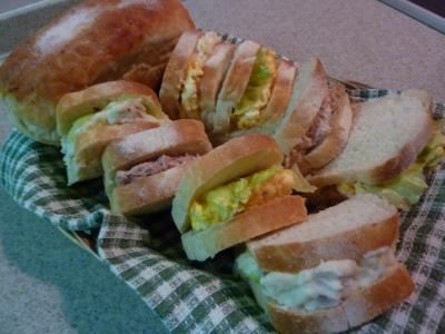 山型ミニ食パンサンド