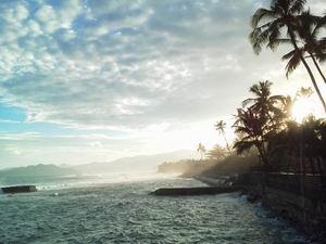 20130701夕暮れの海