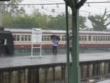 埼玉大学鐵道研究会 活動記録-土砂降りの猛者