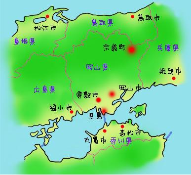 奈義町への地図1