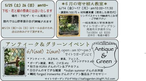 2013 5月花と緑&アンティーク