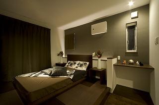 プラスワンリビングハウスの主寝室