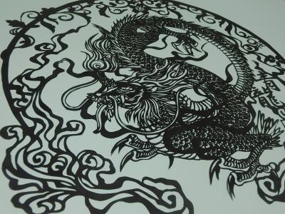 拝借画:燕様「青龍」切り絵2