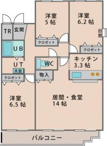 202号室間取り図