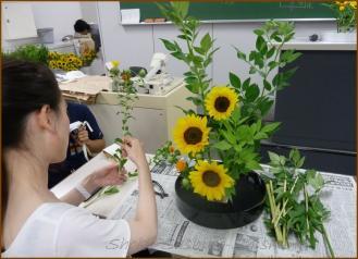 20130624 学生 1 生け花