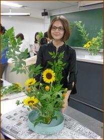 20130624 学生 3 生け花