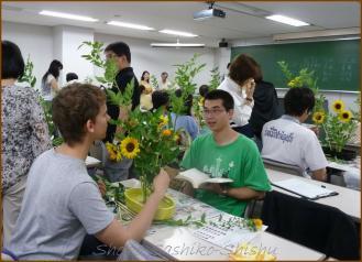 20130624 男子学生 1 生け花