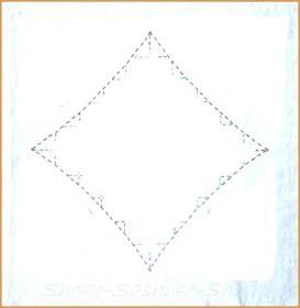 20130719 四角切り取り 白 四角の中の花