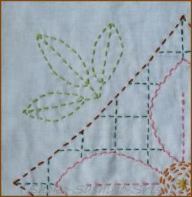 20130719 葉 四角の中の花