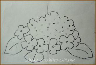 20130830 下絵 紫陽花